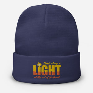 "UPLIFT ""There's Always a Light"" Winter Beanie - UPLIFT Wear - Navy"
