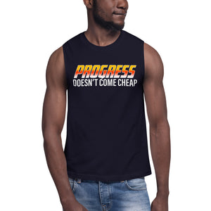 "UPLIFT Men's ""Progress"" Muscle Shirt - UPLIFT Wear - Navy - Mens"