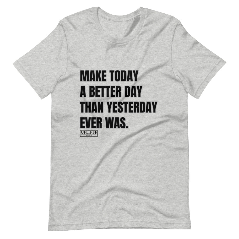 "UPLIFT Men's ""Make Today"" Short Sleeve Graphic Tee - UPLIFT Wear - Heather Grey"