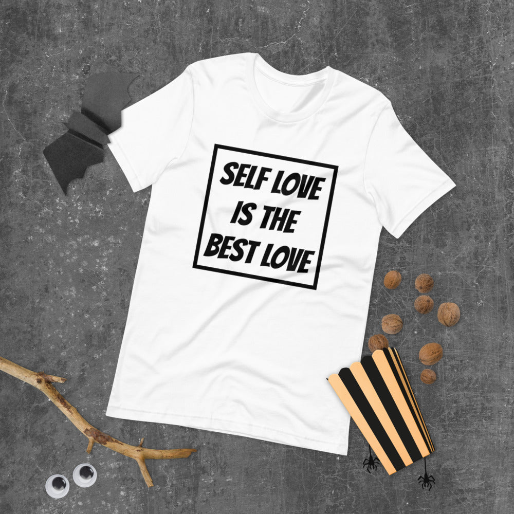 "UPLIFT Men's ""Self Love"" Short Sleeve Graphic Tee - UPLIFT Wear - White"