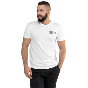 UPLIFT Men's Pique Logo Short Sleeve Tee - UPLIFT Wear - White