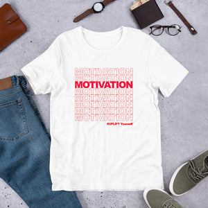 "UPLIFT ""Motivation"" Short Sleeve Graphic Tee - UPLIFT Wear - White"
