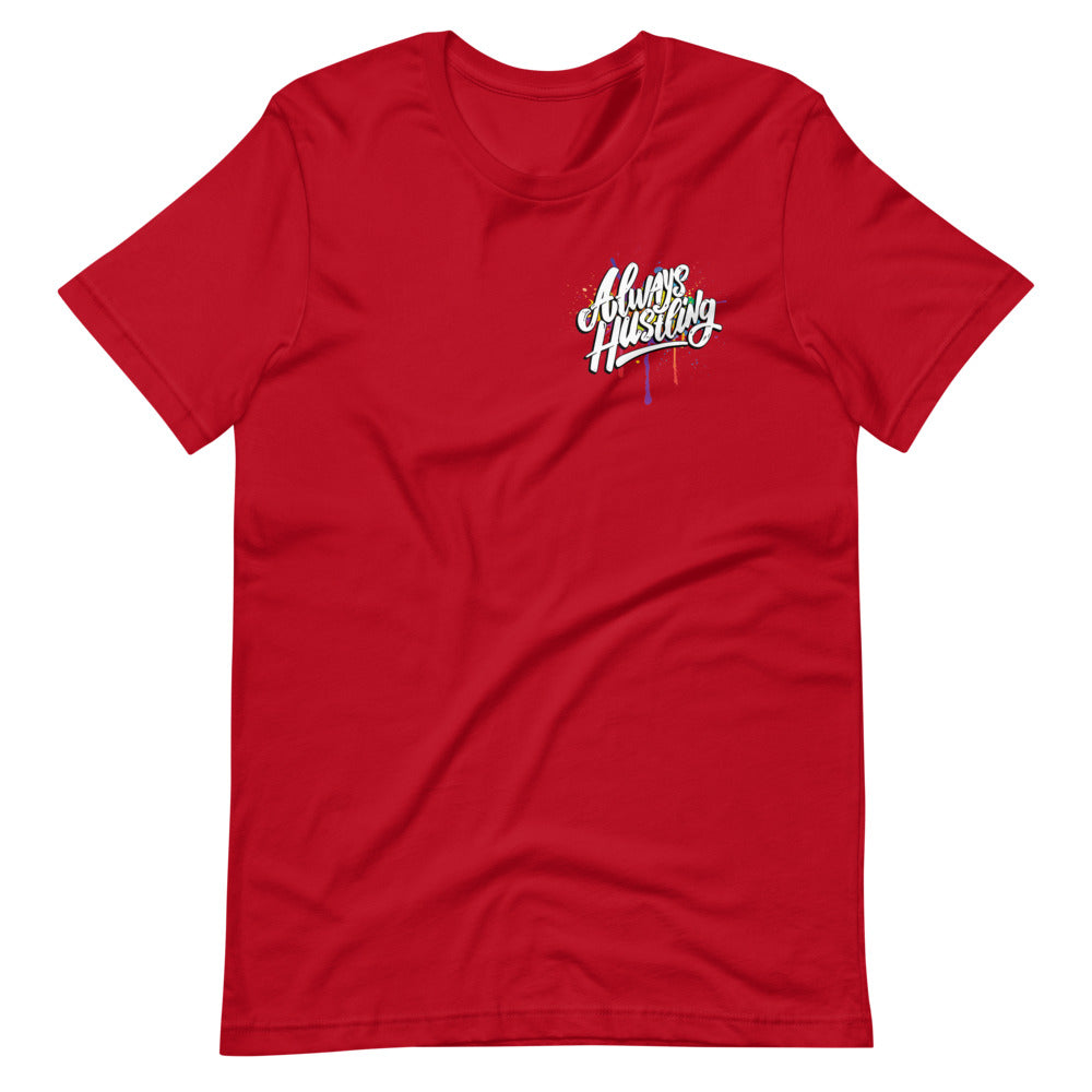 "UPLIFT Men's ""Always Hustling"" Graphic Short Sleeve Tee - UPLIFT Wear - Red"