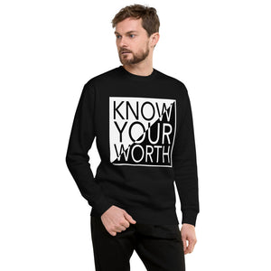 "UPLIFT Men's ""Know Your Worth"" Graphic Sweatshirt - UPLIFT Wear - Black - Mens"