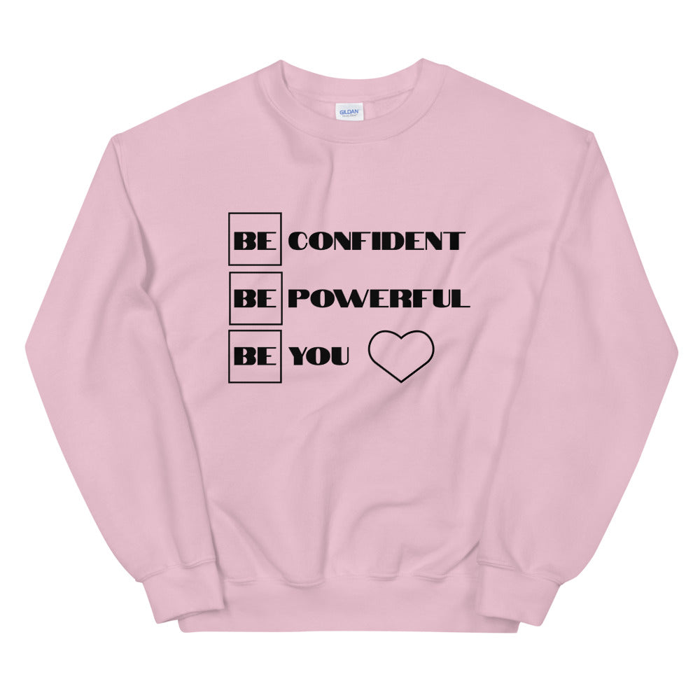 "UPLIFT Women's ""Be Confident"" Pullover Sweatshirt - UPLIFT WEAR - Light Pink"