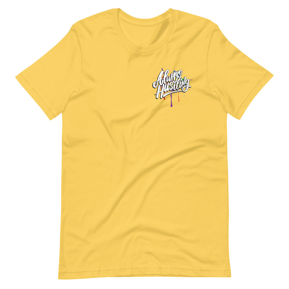 "UPLIFT Men's ""Always Hustling"" Graphic Short Sleeve Tee - UPLIFT Wear - Yellow"