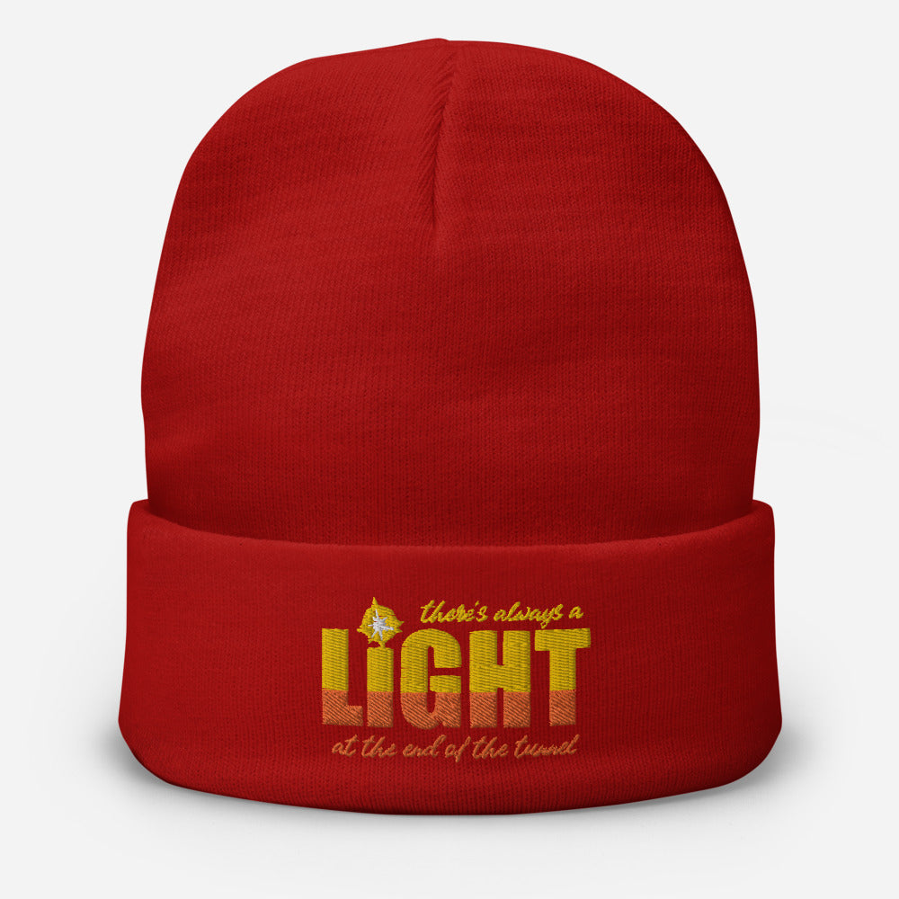 "UPLIFT ""There's Always a Light"" Winter Beanie - UPLIFT Wear - Red"