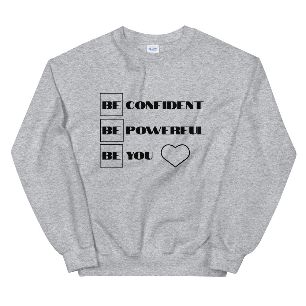 "UPLIFT Women's ""Be Confident"" Pullover Sweatshirt - UPLIFT WEAR - Sport Grey"