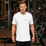"Load image into Gallery viewer, UPLIFT Men's ""Simple Essentials"" Short Sleeve Tee - UPLIFT Wear - White Mens"