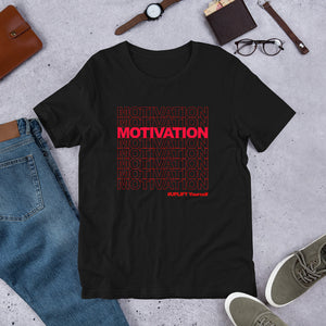 "UPLIFT ""Motivation"" Short Sleeve Graphic Tee - UPLIFT Wear - Black"