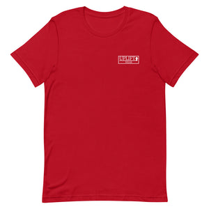 UPLIFT Men's Pique Logo Short Sleeve Tee - UPLIFT Wear - Red