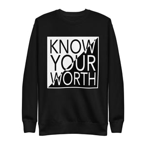 "UPLIFT Men's ""Know Your Worth"" Graphic Sweatshirt - UPLIFT Wear - Black"