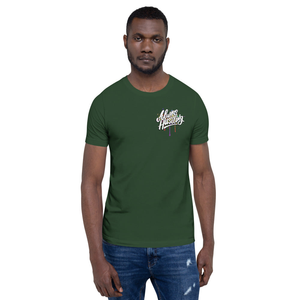 "UPLIFT Men's ""Always Hustling"" Graphic Short Sleeve Tee - UPLIFT Wear - Forest Green - Mens"