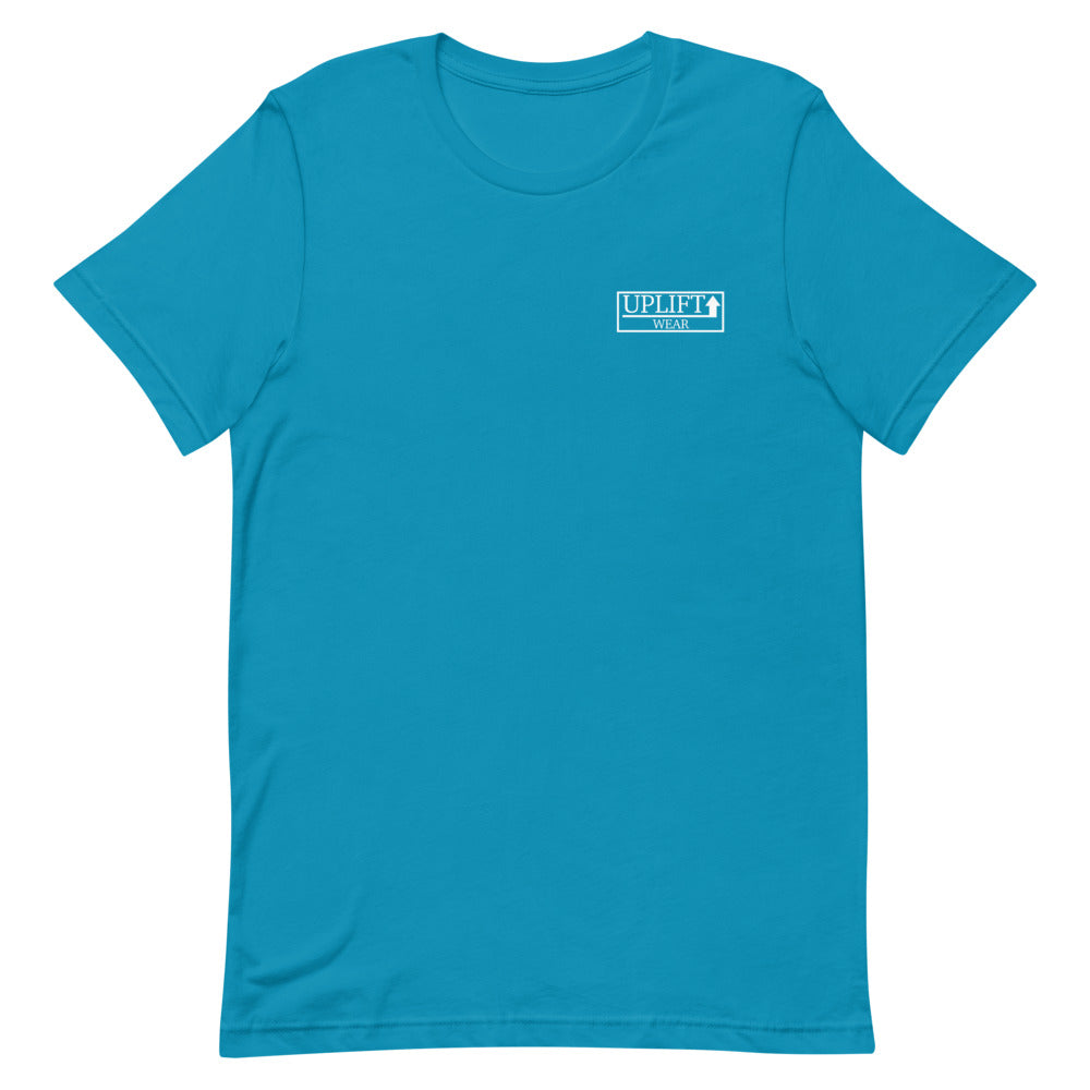UPLIFT Men's Pique Logo Short Sleeve Tee - UPLIFT Wear - Aqua