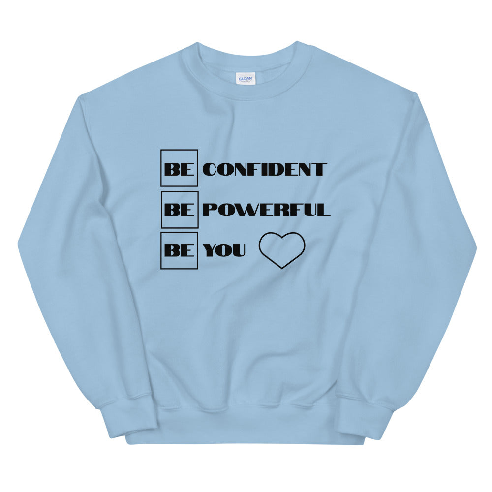 "UPLIFT Women's ""Be Confident"" Pullover Sweatshirt - UPLIFT WEAR - Light Blue"