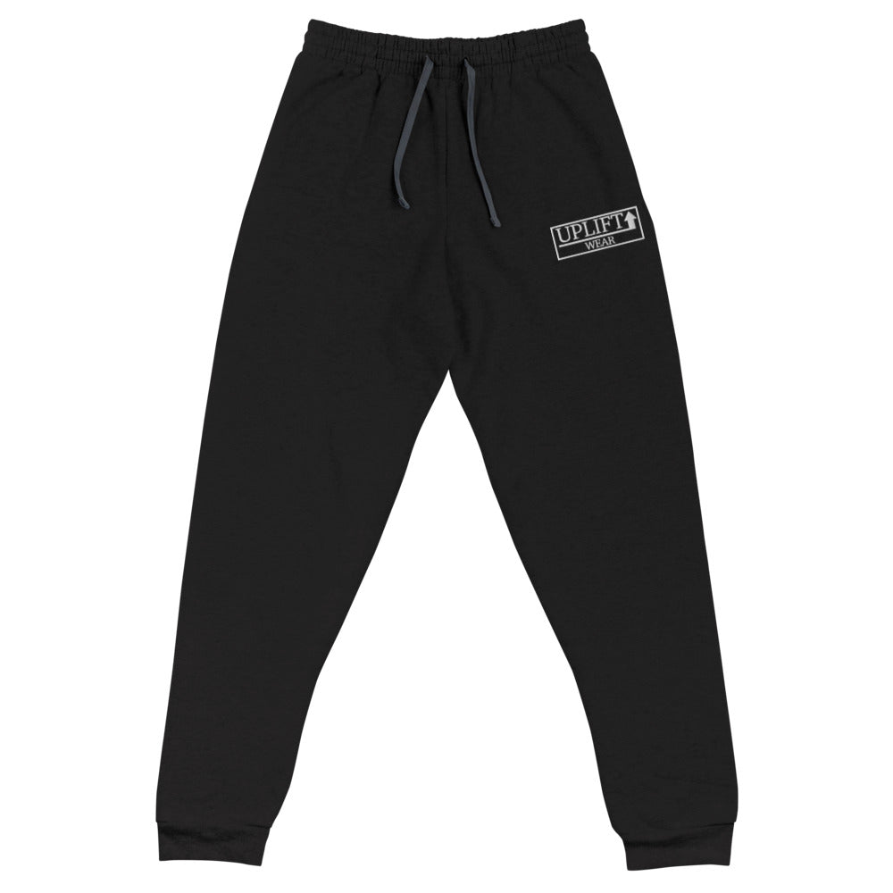 UPLIFT Unisex Embroidered Joggers - UPLIFT WEAR - Black
