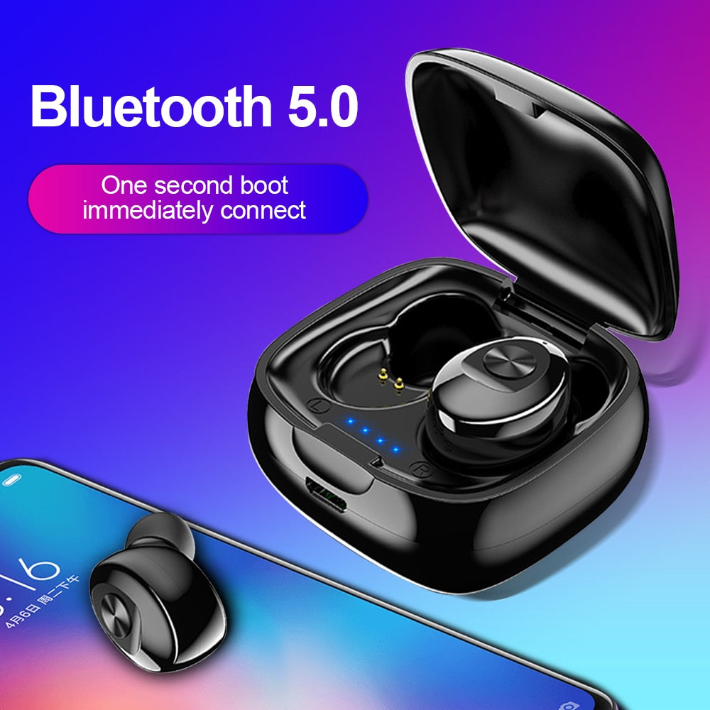 TWS Bluetooth 5.0 Earphone Wireless Headphone Sport Earbus Gaming with Mic