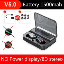 Load image into Gallery viewer, Bluetooth V5.0 Earphone Wireless Earphones Stereo Sport LED power display