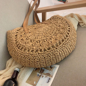 Straw Bags for Women Summer Rattan bolsas Circle Beach Handbags Handmade Knitted woven Bag
