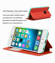 Load image into Gallery viewer, Leather Phone Case For iPhone 6 6s s Plus Fashion Young Colorful Smart Flip Cover For iPhone 6plus 6splus Coque Fundas