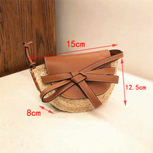 Load image into Gallery viewer, Lafite grass cover straw bag shoulder girl woven bag beach handbag