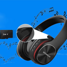 Load image into Gallery viewer, Wireless Bluetooth 5.0 Stereo OverEar Foldable Headphones Built-in Mic Subwoofer HD  Noise Reduction Sport Bluetooth Headset