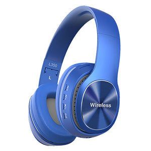 Wireless Bluetooth 5.0 Stereo OverEar Foldable Headphones Built-in Mic Subwoofer HD  Noise Reduction Sport Bluetooth Headset
