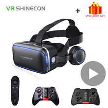 Load image into Gallery viewer, Shinecon 6.0 Casque VR Virtual Reality Glasses 3 D 3D Goggles Headset Helmet For iPhone Android Smartphone Smart Phone Stereo