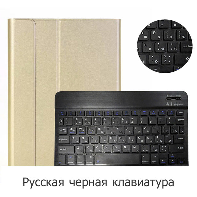 New Keyboard Coque for iPad 10.2 Case with Keyboard Removable for Apple iPad 7th 10.2 Cover