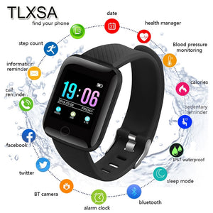 TLXSA Bluetooth Sport Pedometer Children Smart Watch Sleep Monitor Waterproof Smartwatch Kid