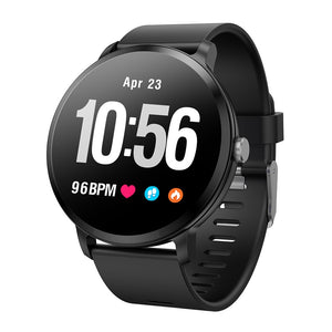 Smart band watch waterproof Tempered glass Activity Fitness tracker Heart rate monitor