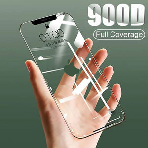 900D Curved Full Cover Tempered Glass on the For iPhone X XS Max XR Screen Protector Glass For iPhone 7 8 6 6s Plus 11 Pro Film