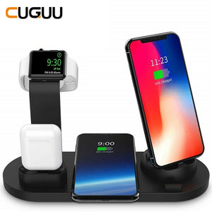 Wireless Charger Dock Station 4 in 1 For iPhone,  Airpods  and Apple Watch