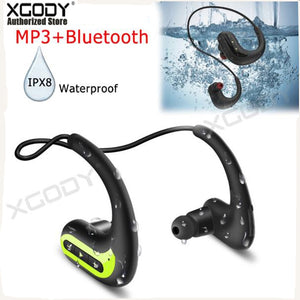 Wireless Earphones Waterproof Swimming Headphone Sports Earbuds Bluetooth Headset Stereo 8G MP3 Player