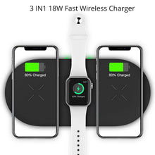 Load image into Gallery viewer, Bonola 3 In1 Wireless Charging Pad For iPhone 11Pro/11/XAR/XsMax Charger Dock For Apple Watch 5 Wireless Charger For AirPods Pro