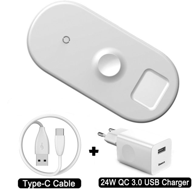 Wireless Fast Charger For iPhone X XS MAX XR 8,  Pad for Airpods 2019 Apple Watchs