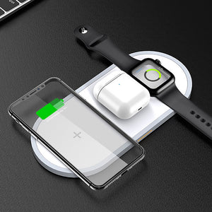 3 in 1 Qi Wireless Charger For Airpods Apple Watch and iPhone