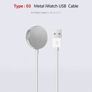 A3 Portable USB Watch Charger Magnetic Wireless Charger for Apple iWatch Series 5 4 3 2 1 Adapter