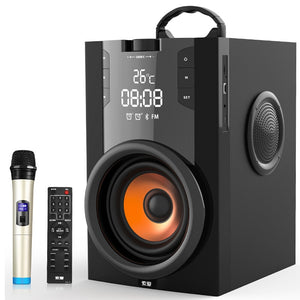 Power Bluetooth Speaker Subwoofer Wireless Portable Heavy Bass Stereo Speakers Music Player LCD