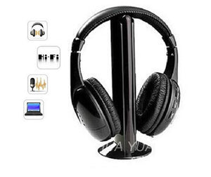 wireless headphones TV/Computer FM radio earphones high quality headsets with microphone