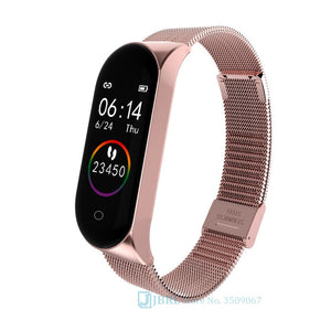 Smart Watch for Kids Stainless Steel Band M4 SmartWatch Ios Android Digital Wristwatch Child Sport Pedometer for Boys and Girls