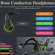 Load image into Gallery viewer, Bluetooth Wired Bone Conduction Head phones Waterproof with mic