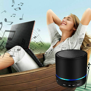 Portable Mini Wireless  With Mic Loudspeaker
