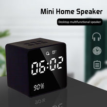 Load image into Gallery viewer, LED Alarm Clock FM Radio Bluetooth Speaker Wireless