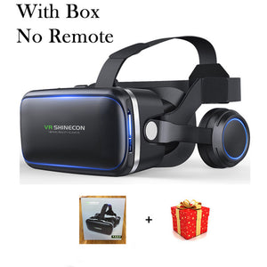 Shinecon 6.0 Casque VR Virtual Reality Glasses 3 D 3D Goggles Headset Helmet For iPhone Android Smartphone Smart Phone Stereo