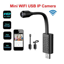 Load image into Gallery viewer, 1080P USB Wifi Camera Real-time Monitoring Camera 360 Degree Rotation Recording Loop Video U21 Mini Camera Support 64GB Card
