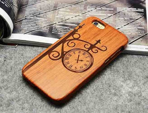 Wooden Phone Case 100% Handmade Natural Real Wood Bamboo Hard Cover for Apple iPhone X XR XS MAX 8 7 Plus 6 6S Plus 5S SE