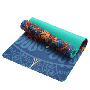 Portable Antiskid Printed Suede Pilates Yoga Mats Microfiber Professional Fitness Beach Blanket