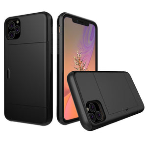 Slim Hard Phone Case for iPhone 11 iPhone 11 Pro Max  iphone X XS with Hidden Card Slot
