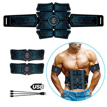 Load image into Gallery viewer, EMS Abdominal Muscle Stimulator Trainer USB Connect Abs Fitness Equipment Training Gear Muscles Electrostimulator Toner Massage
